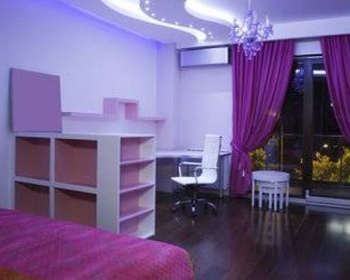 Дизайн интерьера в фиолетовом цвете