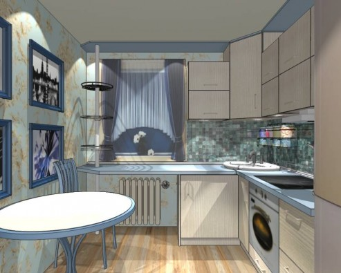 Улучшаем интерьер маленькой кухни