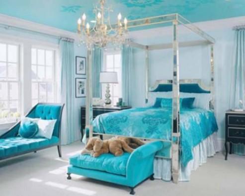 Дизайн интерьера в голубом цвете
