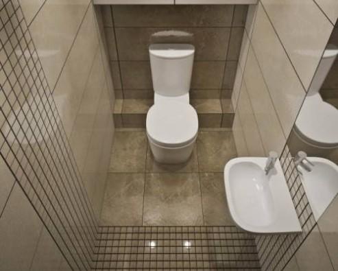Бюджетный ремонт небольшого туалета