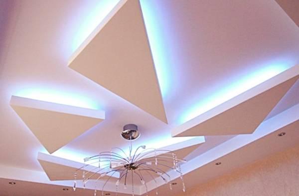 Сложные подвесные потолки из гипсокартона