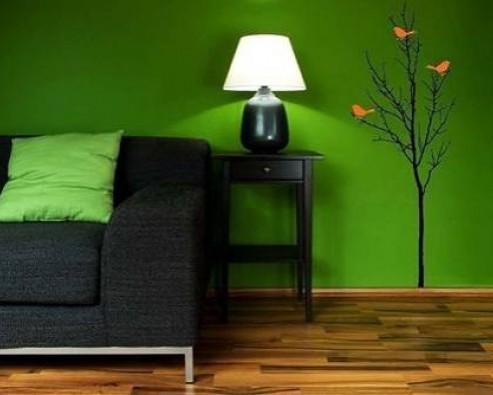 Дизайн интерьера в зеленом цвете