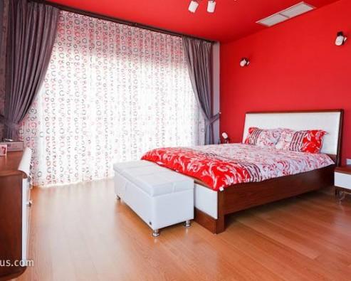 Дизайн интерьера в бордовом цвете