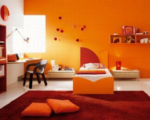 Дизайн интерьера в оранжевом цвете