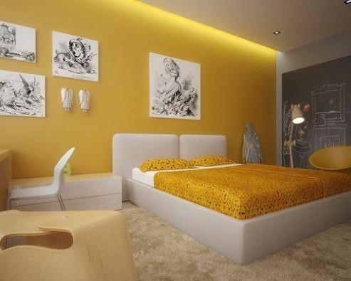 Дизайн интерьера в желтом цвете