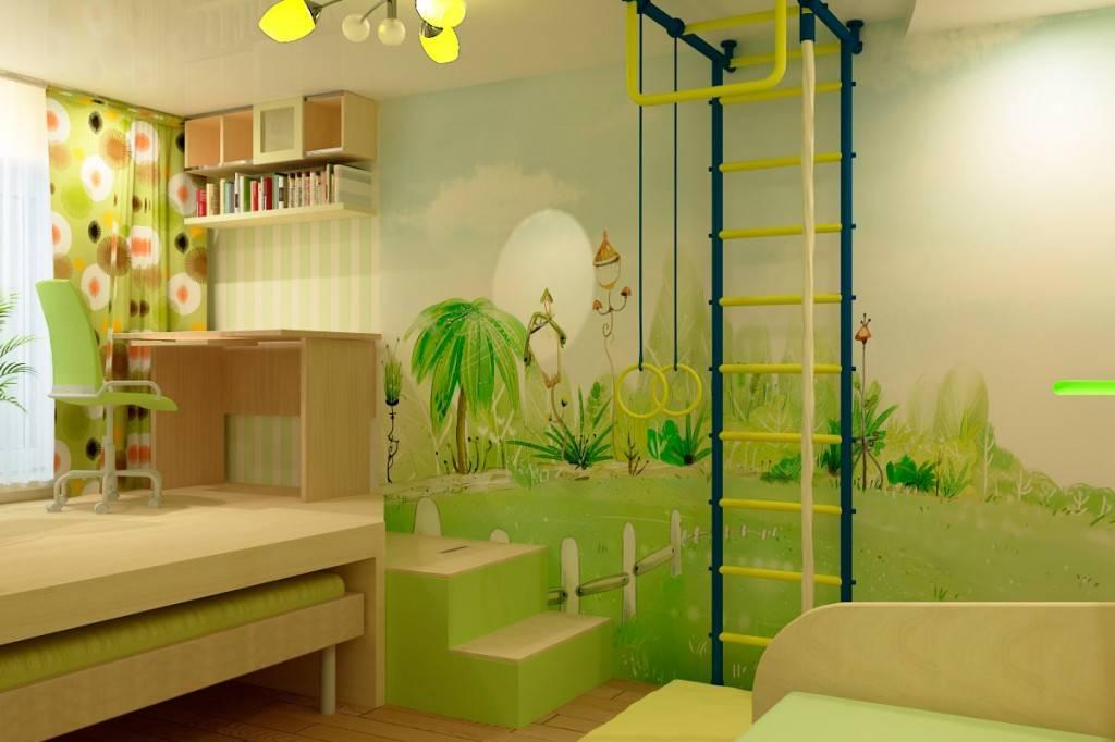 Зеленая детская комната фото
