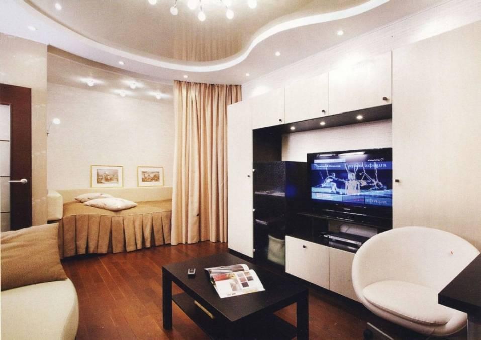 Идеи дизайна зала в однокомнатной квартире