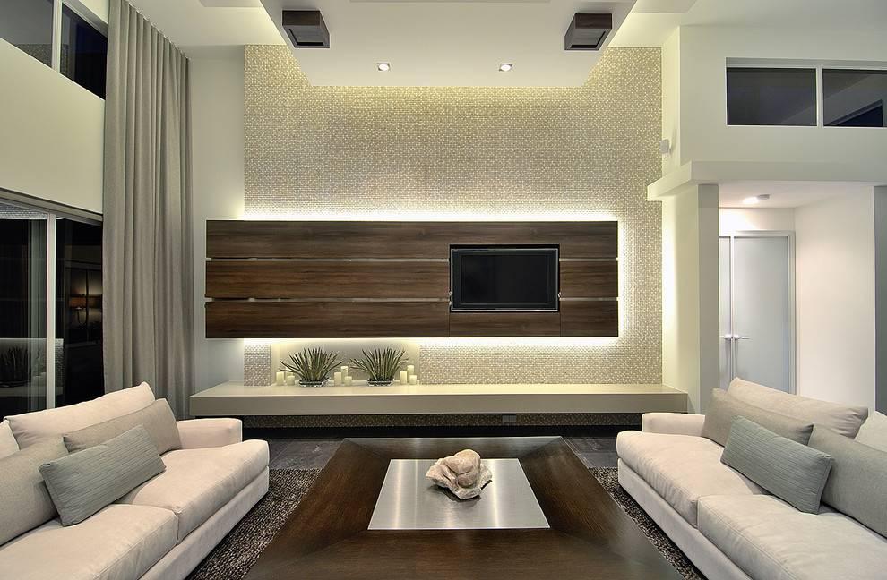 Идеи декора для зала