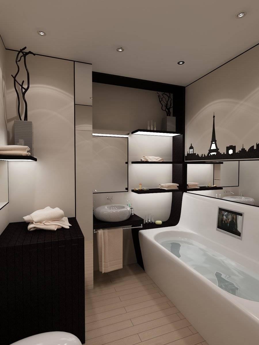 Дизайн ванны 5 кв