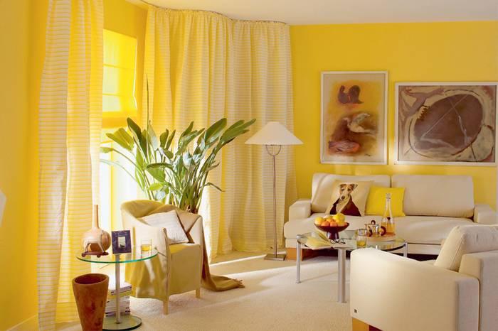 фото интерьер в желтом цвете